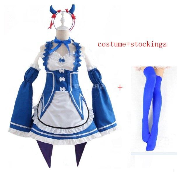 Ram/Rem Косплей Re: zero Hajimeru Isekai Seikatsu черный синий красный костюм горничной платье служанки - Цвет: package 9
