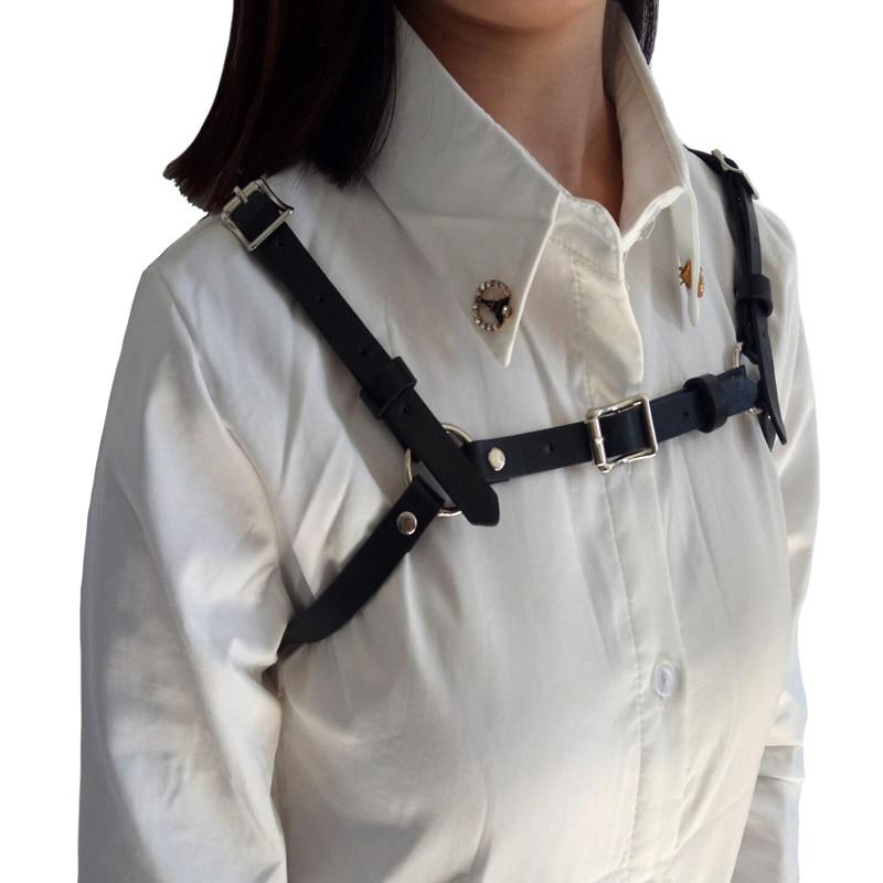 New brand design Body Bondage Cage Sculpting leather Harness Waist   Belt   Fashion metal buckle Straps Suspenders   Belts   accessories