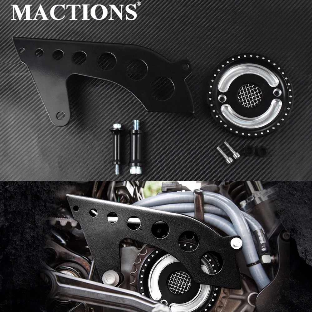 MACTIONS Voor Drive Katrol Guard Cover Katrol Cover w/Mesh Countershaft Voor Harley Sportster 883 1200 XL 48 72 superLow 04-2018