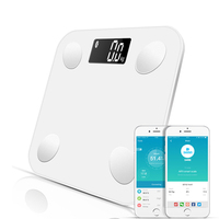 Smart Body Fat Bluetooth Digital Bathroom Scales Floor With Body Type Measure Weight Health Balance Fat Water Muscle Mass BMI