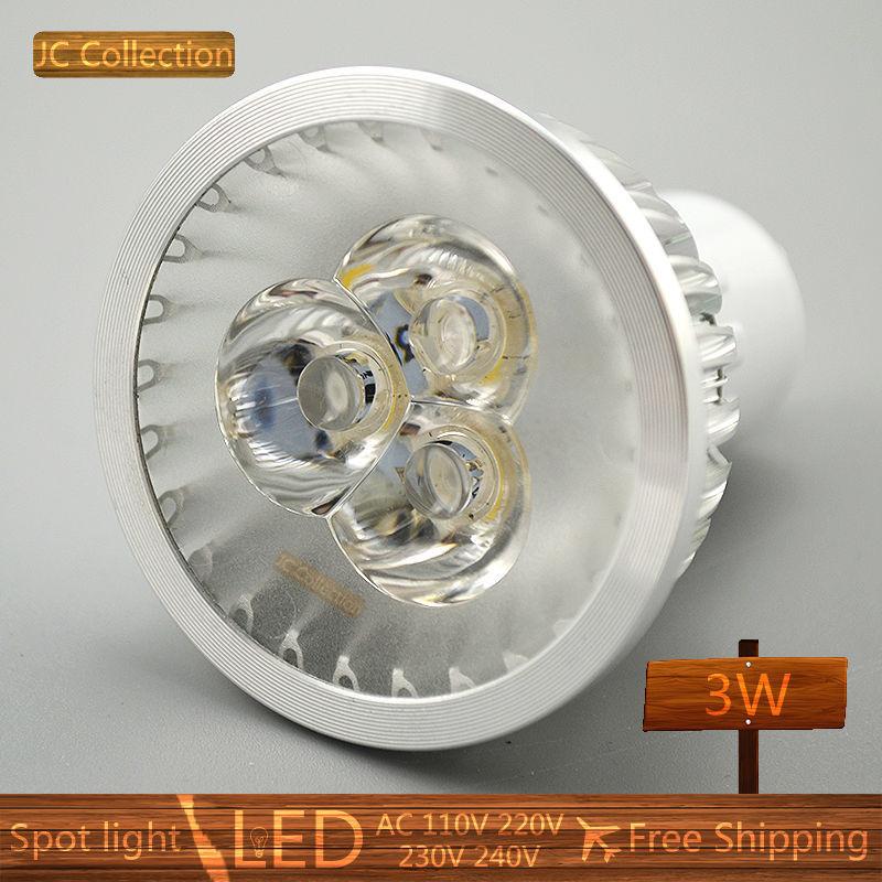 Led Spotlight Warm White: 2PCS/Lot Free Shipping GU10 3W LED Spotlight Bulb Warm