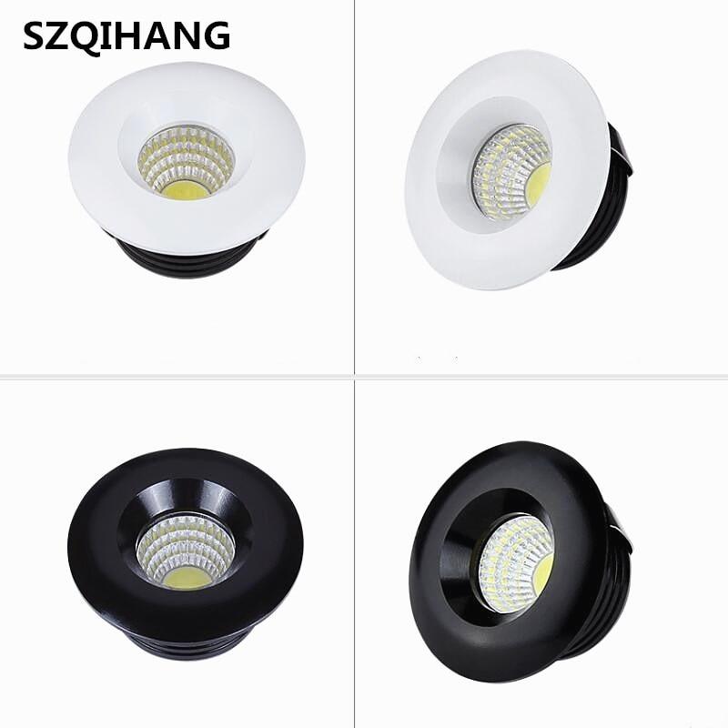 Dimbare 3 W 5 W Ronde Cob Mini Spot Verzonken Neer Lamp Wit Shell Zwart Shell Cob Led Plafondlamp T Ac110v Ac220v