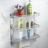 MTTUZK DIY нержавеющая сталь 3 слоя стиральная машина стойки вешалка для полотенец с крюком полки для ванной кухня и туалет стеллаж хранения