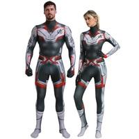 Adult Men Women Marvel Endgame Costume Avengers 4 Endgame Quantum Realm Zentai Jumpsuit Halloween Superhero Party Cosplay