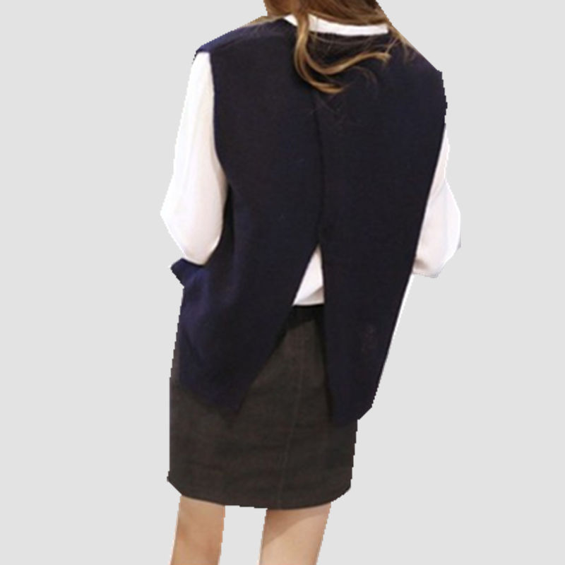 Женский кашемировый свитер Litvriyh, Трикотажный жилет на весну и осень