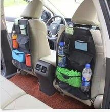 Car Seat Organizer Holder Multi-Pocket Headrest Storage Bag Hanger Black Carrier Travel Bag Stowing Tidying Bags car styling