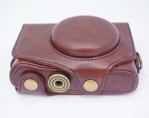 Сумка для видеокамеры, чехол из искусственной кожи с винтовым креплением 1/4 для цифровой камеры Canon PowerShot SX720 SX730 SX740 HS