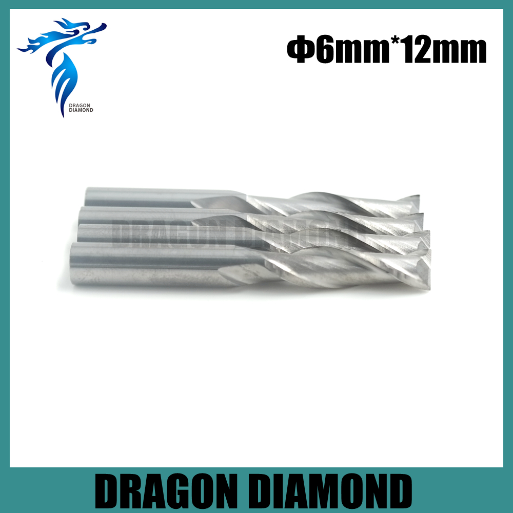 Free Shipping 5pcs 6*12mm 2 Flutes Spiral Carbide Tools, End Milling Tools, CNC Cutting Bits, Engraving Cutter on Woodworking  цены