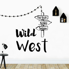 Modern wild west Family Wall Stickers Mural Art Home Decor Waterproof Decals Party Wallpaper