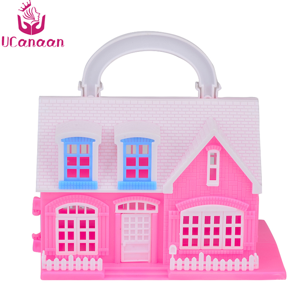 UCanaan Mini Doll House Furniture Accessories For 1/6 Doll Toys Play House for Children Baby Girl Best Gift free shipping handmade doll clothes belt pants for obitsu11 ob11 cu poche 1 12 bjd doll accessories toys gift girl play house