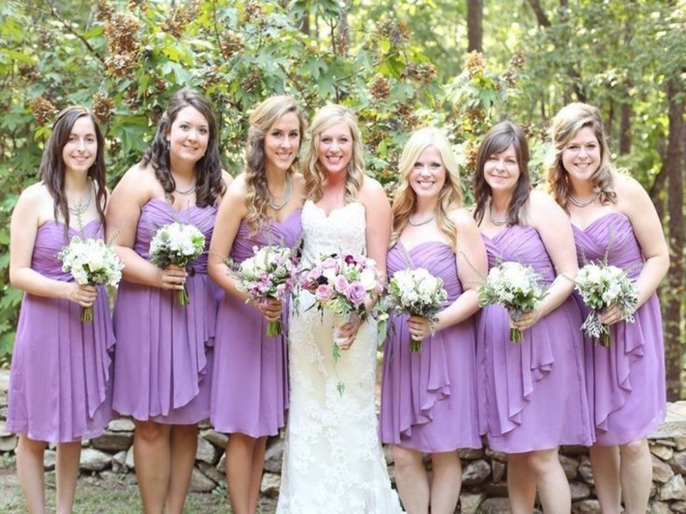 Cheap Dresses For Bridesmaids Plus Size Sexy Sweetheart