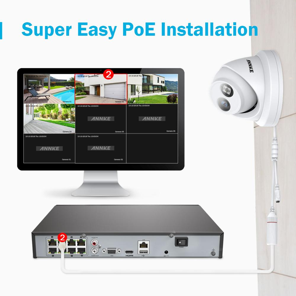 Image 2 - ANNKE 8CH 4K Ultra HD POE Network Video Security System 8MP H.265+ NVR With 8pcs 8MP Weatherproof IP Camera CCTV Security Kit-in Surveillance System from Security & Protection