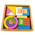 1 Set Children Toys 15 Large Can Chew Oak Wooden Storage Box With One Hundred Puzzle Building Toys Birthday Gift