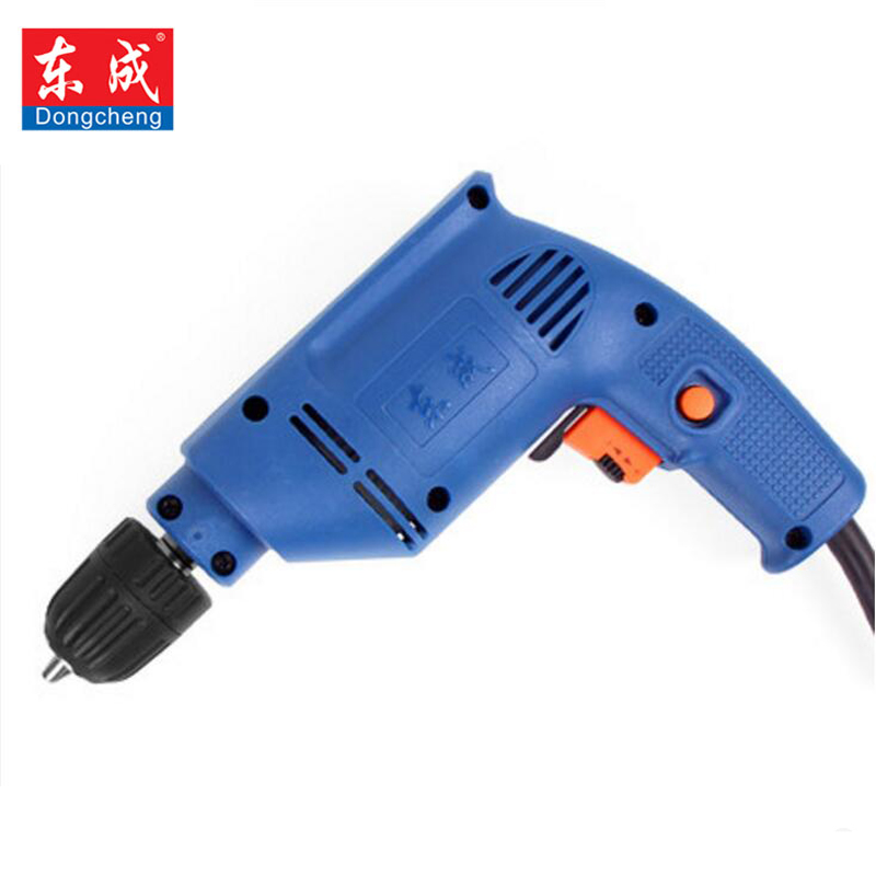Dongcheng 220V Matkap Electric Drill Electric Screwdriver Infinitely Variable Speed Reverse Direction Power Tools Parafusadeira free shipping proskit upt 32015d variable frequency electric screwdriver 0 4 1 5n m electrician electric tools power toolkit