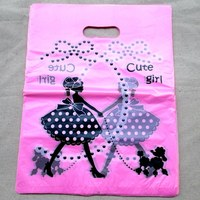 500pcs 15x20cm girl design Gift Bags Plastic Boutique Pouches Shopping Gift Package Bag 01502044