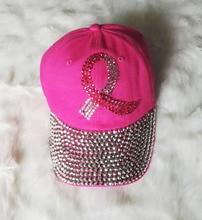 2015 New 8 colors Retail Diamond Point Colored Ribbon denim pink caps women baseball cap girls Hat rhinestone print