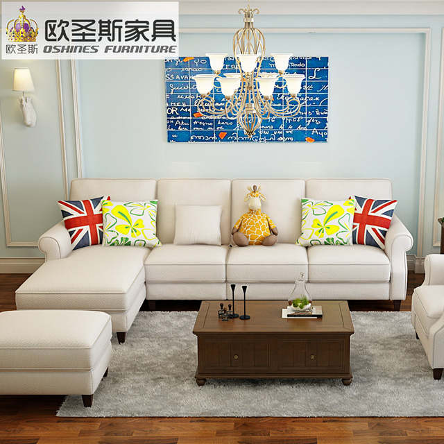 Online New Arrival American Style Simple Latest Design Sectional L Shaped Corner Living Room Furniture Fabric Sofa Set Prices List F75f Aliexpress