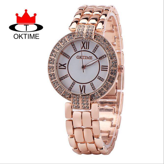 Rose Gold Wrist Watch Women  Men 2016 Top Brand Luxury Famous Male Clock Quartz Watch Wristwatch Quartz-watch Relogio Masculino
