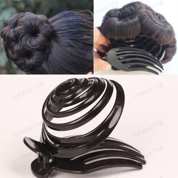 Заколки для волос, черные пластиковые заколки с когтями, заколки для волос с хвостиком, аксессуары для волос для женщин