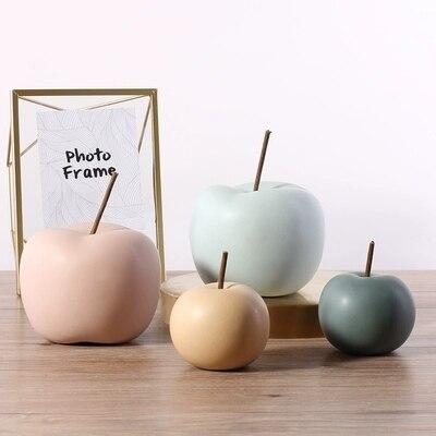 CoöPeratieve Nordic Creatieve Keramische Apple Ornamenten Moderne Minimalistische Home Wijnkast Decoratie Interieur Decoratie Ambachten