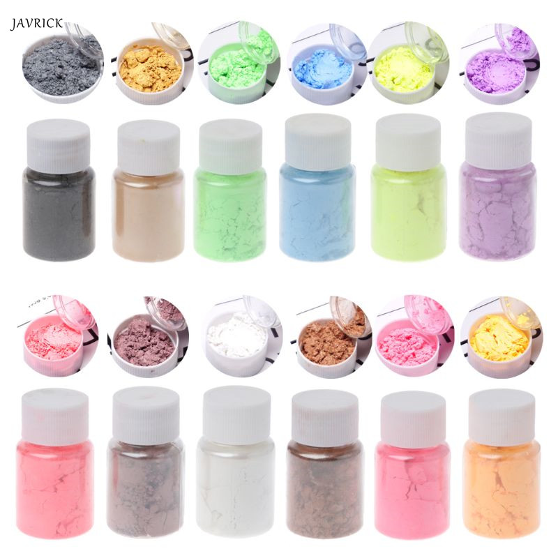 Pearlescent Mica Pigment Powder Rainbow UV Resin Epoxy Craft DIY Jewelry Making(China)