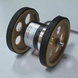 Podwójne koła miernik obwód koła 200mm  300mm opcjonalnie z średnica zewnętrzna 52mm enkodera