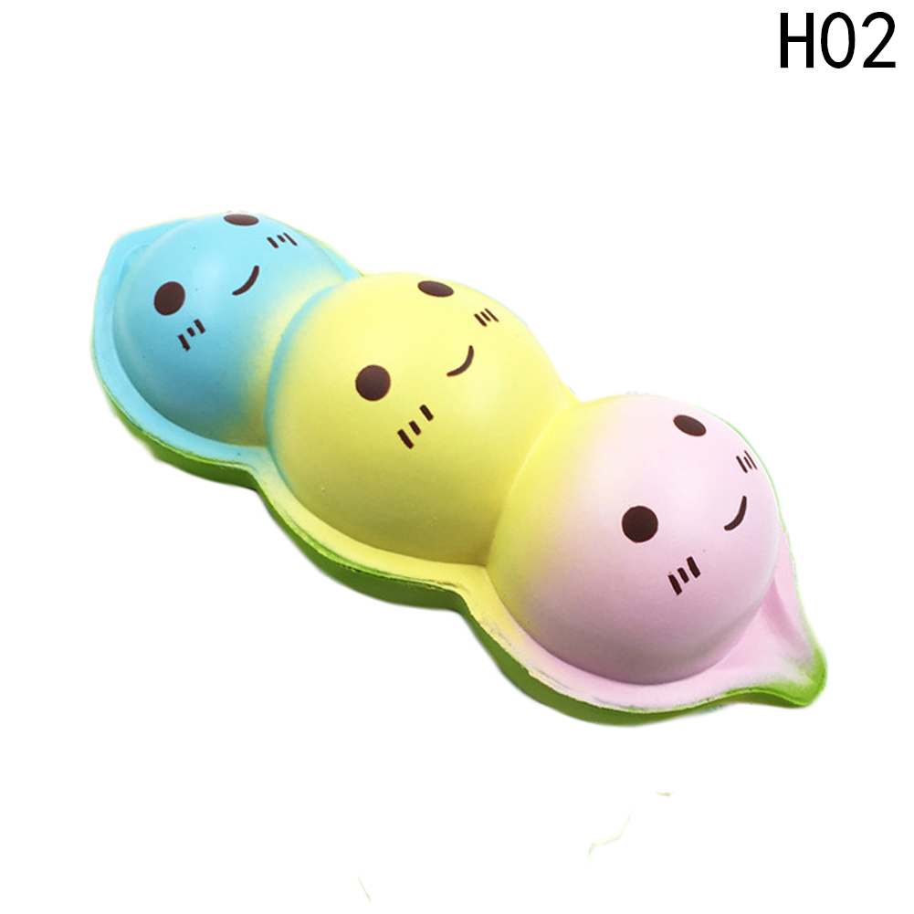 15CM Jumbo New Kawaii Face Pea Squishy Slow Rising Original Bean Pendant Phone Strap Stretchy Soft Squeeze Fun Kid Toy Gift