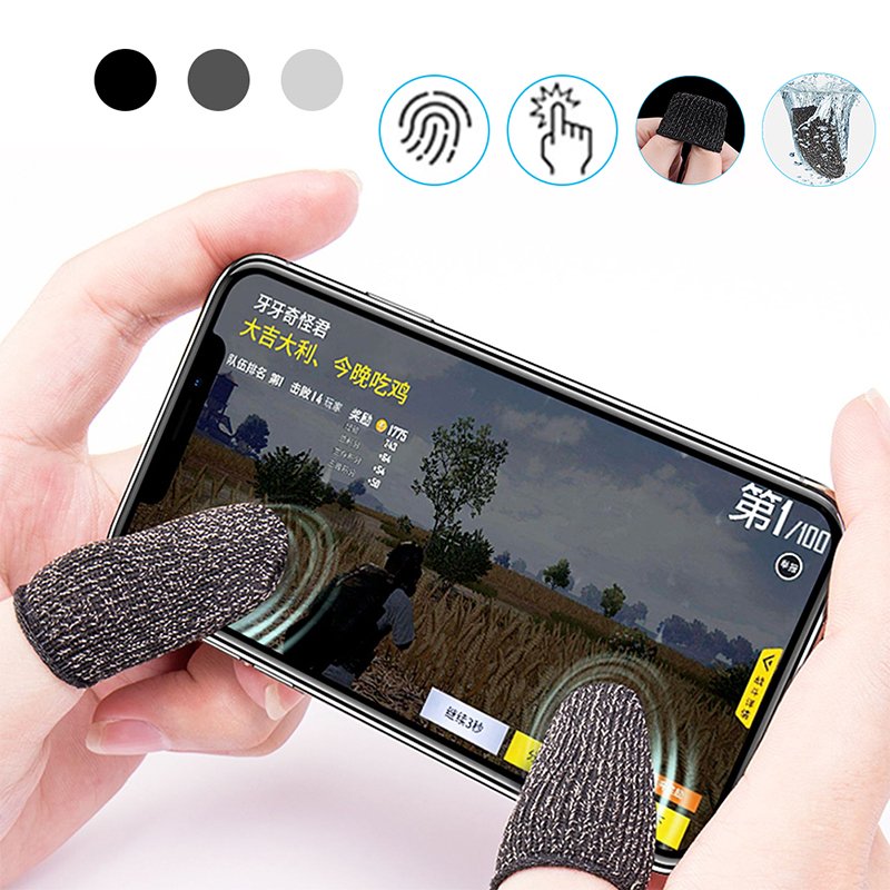 1 Pair L1 R1 Breathable Mobile Game Controller Finger Sleeve Touch Trigger for Fortnite PUBG Mobile Rules of Survival Gatillos image