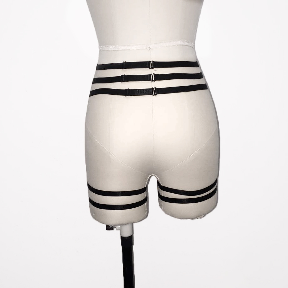 HTB1mSWTQFXXXXauXVXXq6xXFXXXK Sexy Bondage Fetish Wear Lingerie Elastic Band Stockings Garter Belt For Women