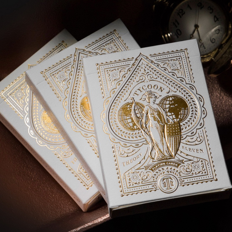 Tycoon Ivory Playing Card Deck By Theory 11 Collectible Cardistry Cards 1Pcs New Sealed Magic Deck Props Magia Tricks
