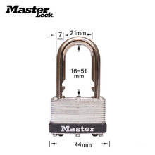 Master Lock Keyed Padlock laminated steel lock with standard adjustable shackle,length adjusts from 5/8-inch to 2-inch