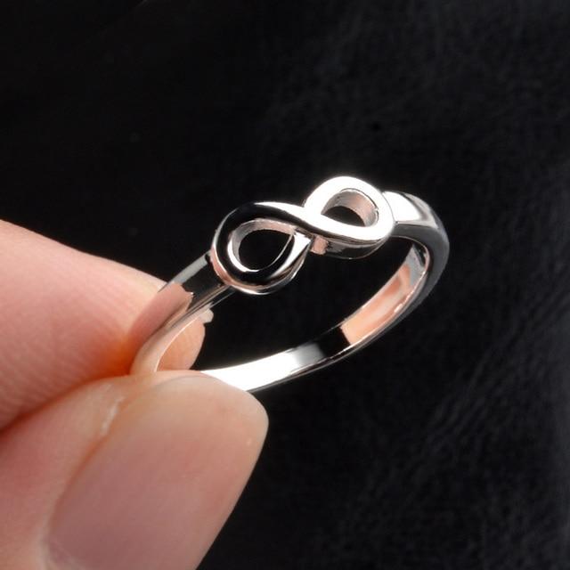 Love romance Infinity gunmetal gold fashion silver Ring
