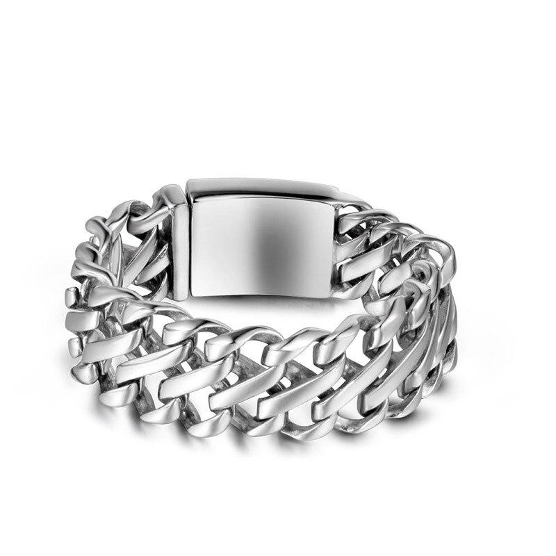 2019 nouvelle vente Bracelets & Bracelets Pulseira Masculina Bileklik acier inoxydable bijoux mode Super large accessoires Ce329 Punk