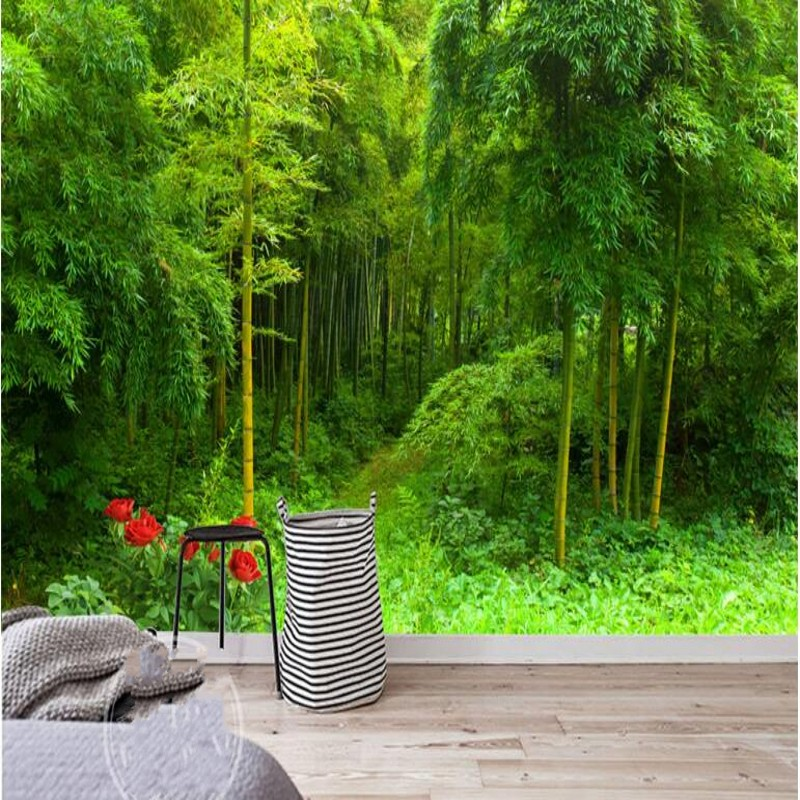 Beibehang Large Custom Wallpaper Beautiful Aesthetic Leisure Bamboo Forest Background Wall Decoration Living Room Painting Custom Wallpaper Wallpaper Beautifulbamboo Forest Aliexpress