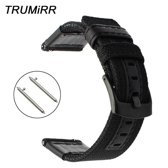 Bracelet de montre en Nylon véritable + cuir 20mm 22mm 24mm pour Panerai Montblanc Breitling Rado bracelet de montre rapide fermoir en acier