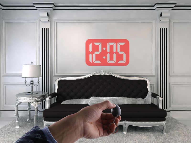 Horloge de Projection de temps numérique Mini horloge LED avec Projection de temps Portable montre numérique veilleuse horloge de projecteur magique