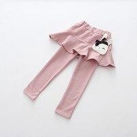 Kids meisjes broek baby geel grijs donkerblauw roze cartoon kat patroon rok pant legging peuter casual broek kinderen kleding