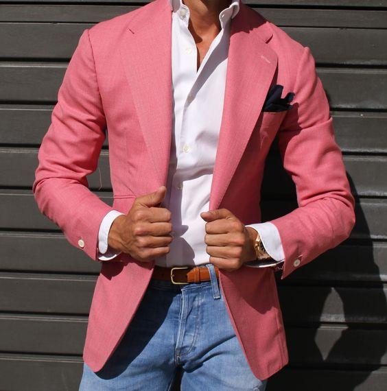 2017 Latest Coat Pant Designs Hot Pink Blazer Casual Men Suit Fashion Jacket Custom Suits Skinny Groom Tuxedo Terno Masculino