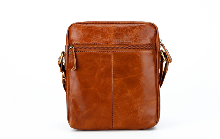 Topdudes.com - High Quality Genuine Oil Wax Leather Vintage Messenger Bag