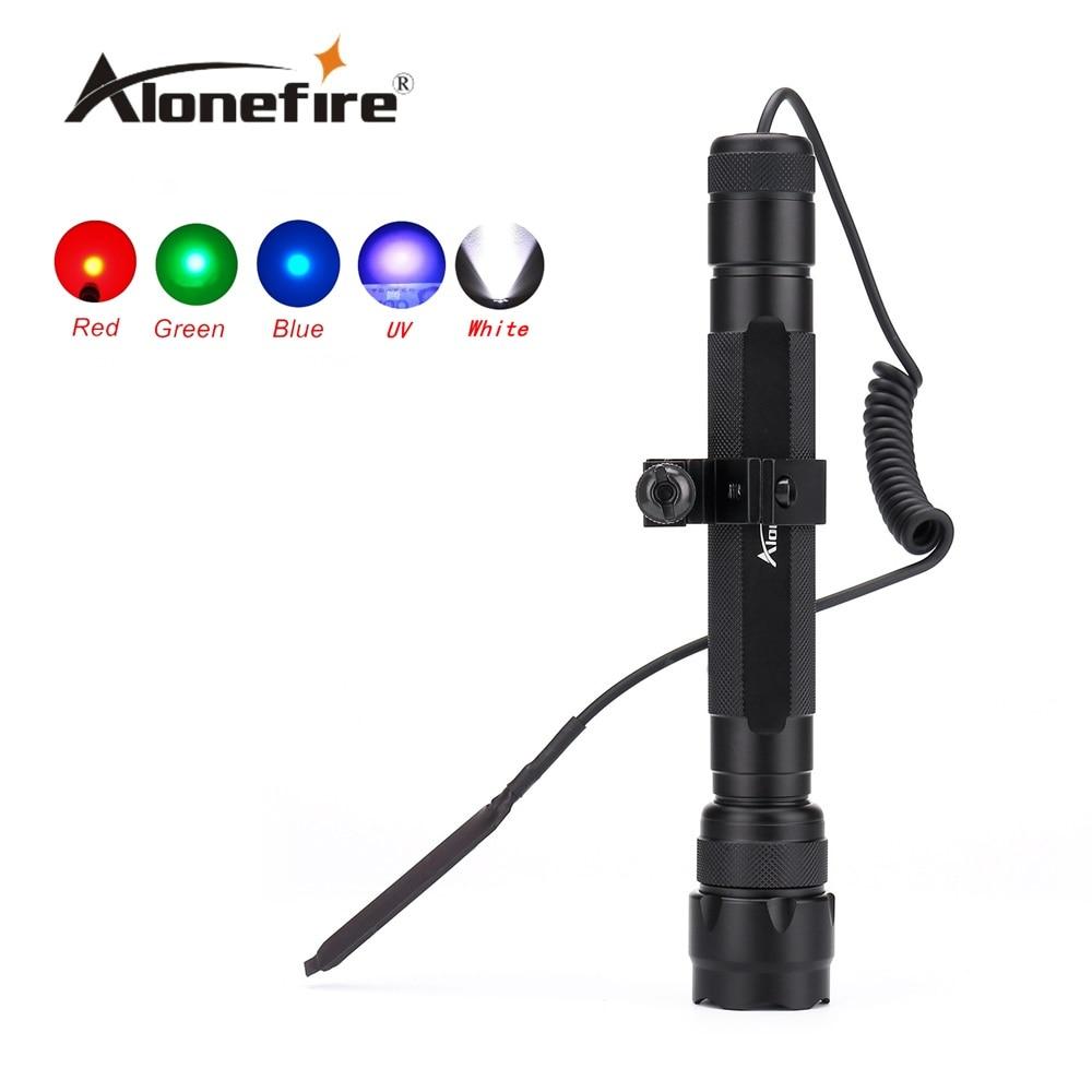 502D LED Tactical Gun Flashlight Handgun Torch Light Lamp Hunting Torch+Remote Switch+Gun Mount