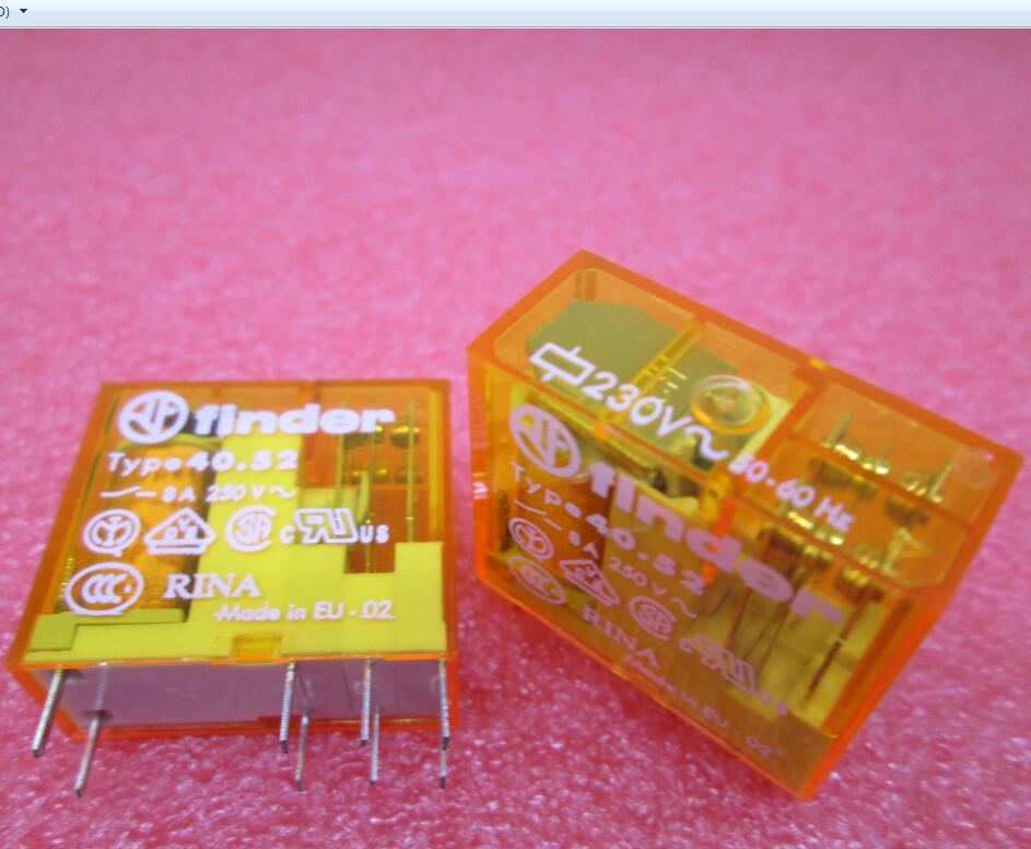 HOT NEW relay 40.52.8.230.0000/ 40.52 230VAC 8A finder DIP8 2pcs/lot hot new relay 8980809780 hf3511 12 l 1513006728 1pcs lot