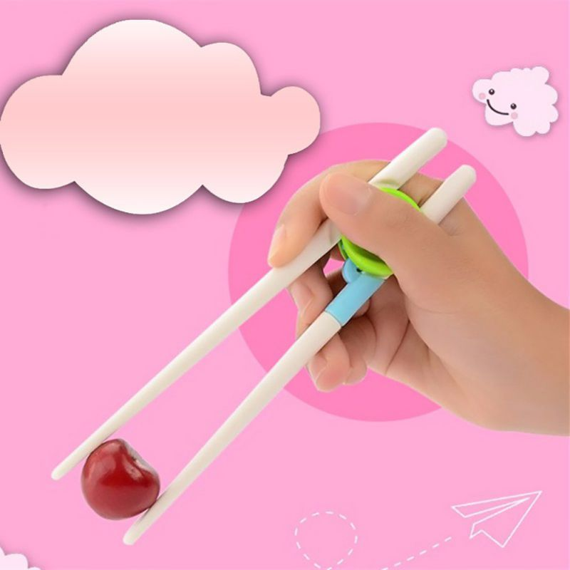 Baguettes pour Sushi enfants   1 paire de baguettes pour Sushi bébés enfants formation amusante aide bâtonnets de nourriture, facile à utiliser, plats dîner jeu outils de cuisine