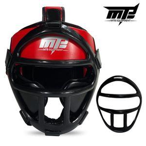 Image 5 - Kids Adults MMA Boxing Muay Thai Helmets W/Mask Martial Arts Taekwondo Removable Sparring Sanda Training Headgear 2019 EO