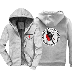 Image 1 - New Fashion Men Thicken Sweatshirt New Black Devil Special Force Usa Canada Hoodie Hip Hop Jacket Hoody Tops Harajuku