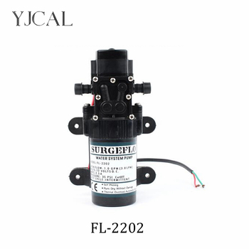 Electric Diaphragm Pump spray Solar Water Booster FL-2202 DC 12V 24V Water Pump High Pressure Micro Self-priming Motor Pump solar water pump dc 12v 24v high pressure solar power pump submersible stainless steel well pump electric diaphragm garden