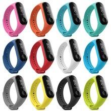 Xiao mi mi mi Banda 3 Strap Pulseira de Silicone Banda 3/Versão NFC Inteligente Relógios Acessórios Multicolor pulso inteligente banda