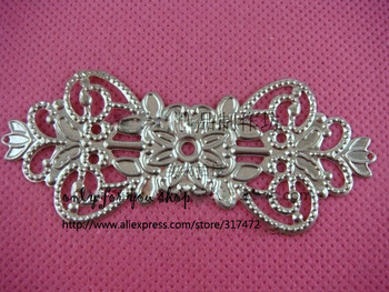 FREE SHIP! 74mmx31mm Long Mental spacer - filigree stamping for DIY jewelry making фото
