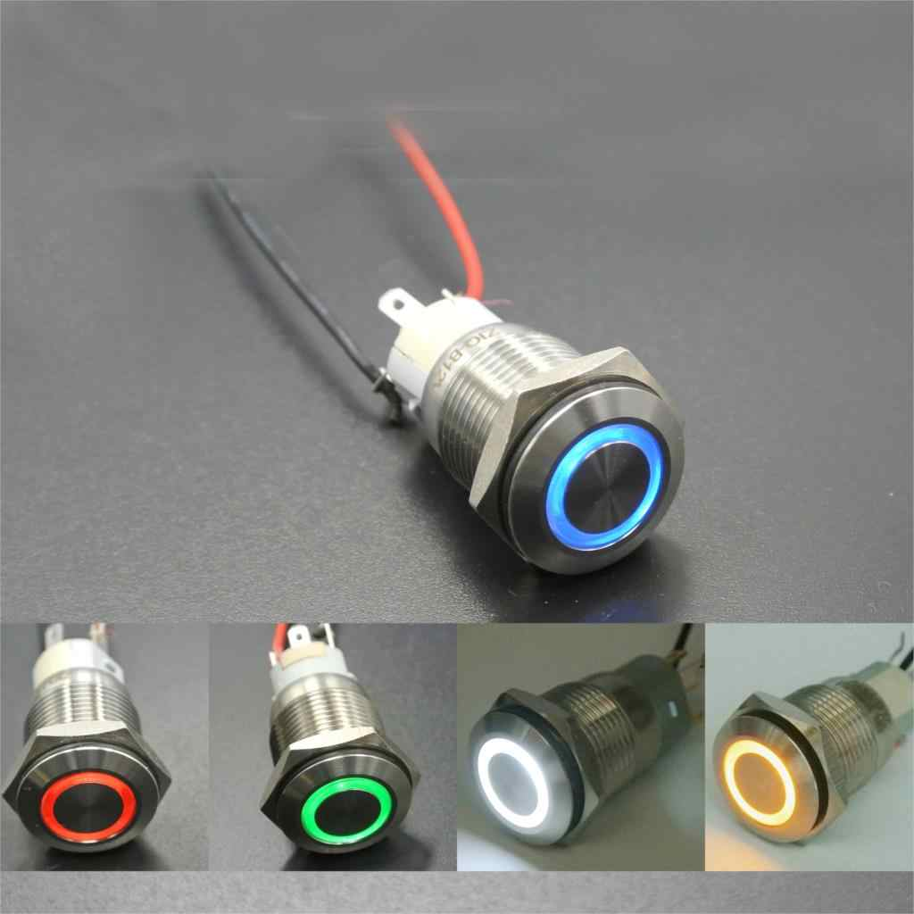 Detail Feedback Questions About 12v Latching Push Button Switch Details 3a 250v Off On 1 Circuit 220v 16mm Waterproof Stainless Steel Led Metal For Car