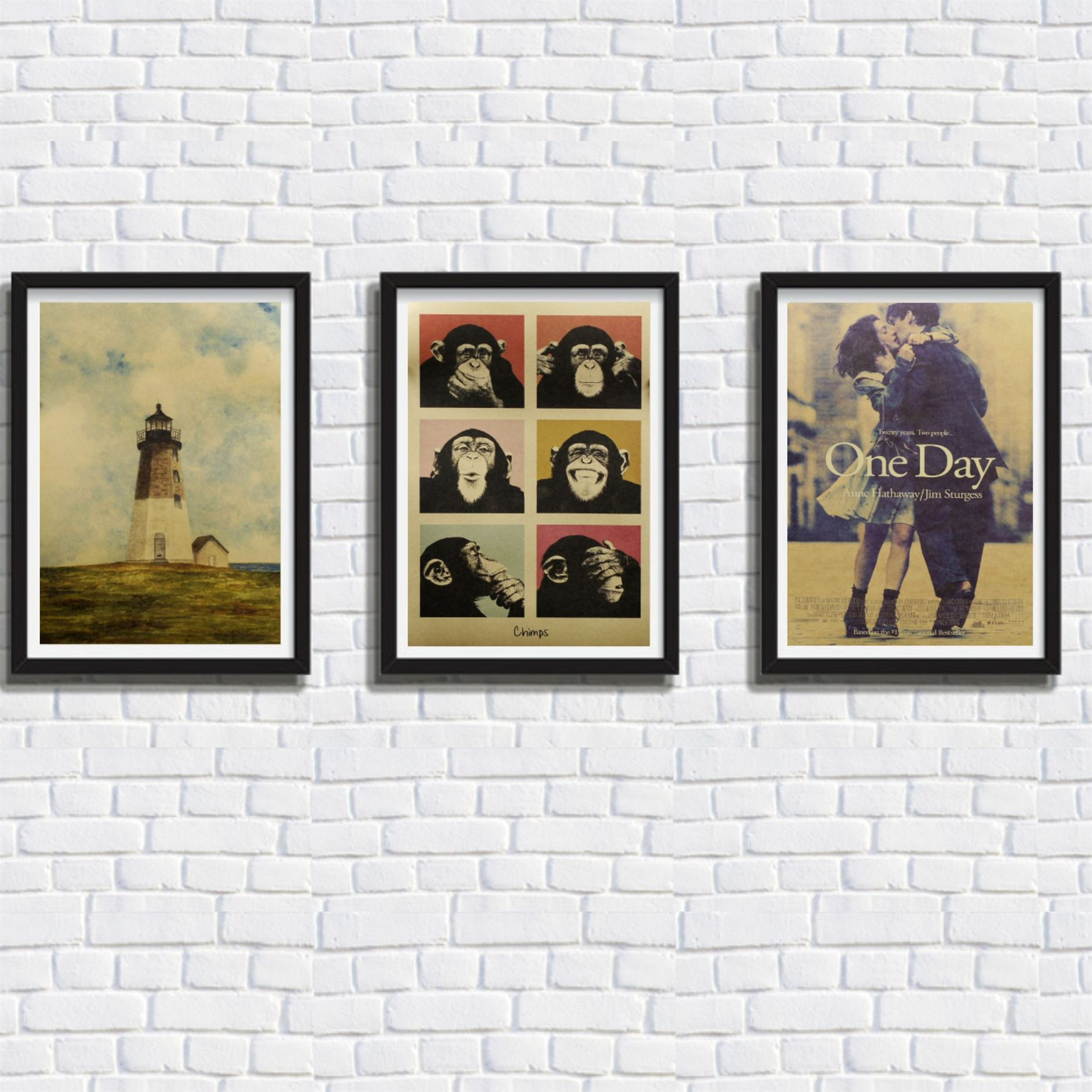 1Pcs Vintage Poster Gorilla Adornment Bar Counter Retro Kraft Paper Posters Movie Poster Wall Stickers Home Decor 51*35.5cm