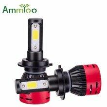 AmmToo H7 светодио дный H4 автомобиль свет H11 Luces светодио дный Para Авто 9012 H1 H3 HB3 HB4 туман лампа 72 Вт 8000LM Авто 4300 К 6500 К лампы для Kia Peaugeot